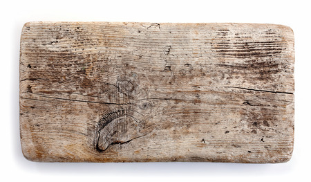 wooden plank isolated on white background Archivio Fotografico