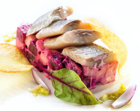 remolacha: ensalada de remolacha con arenque salado
