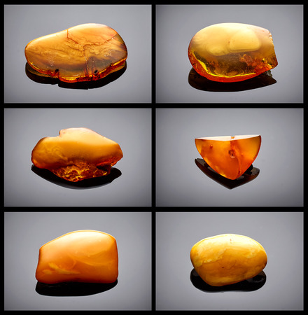 amber: Amber collection on black background