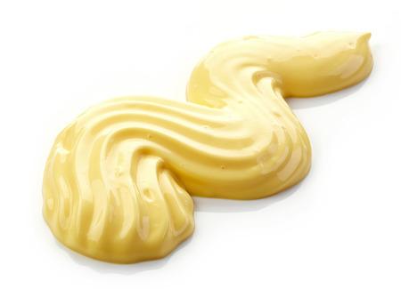 mahonesa: mayonesa aislado en un fondo blanco