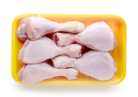 chicken meat package isolated on white background 版權商用圖片