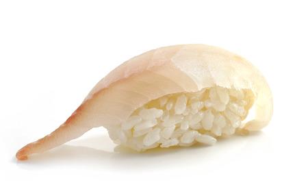 sea bream: sea bream sushi isolated on white background
