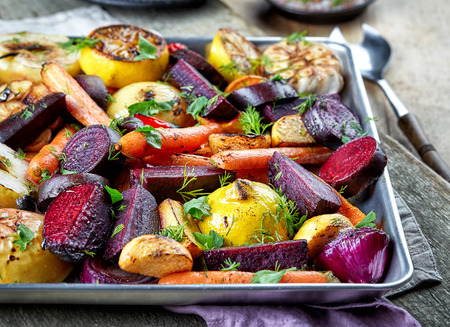 rutabaga: Various roasted fruits and vegetables