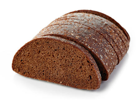 rye bread: fresh rye bread isolated on white background Stock Photo