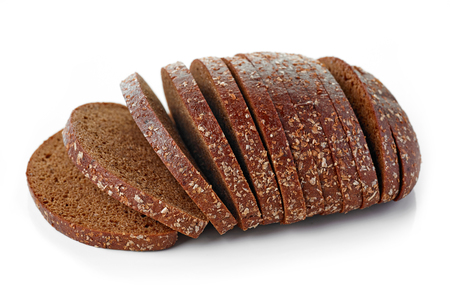 bread: fresh rye bread isolated on white background Stock Photo