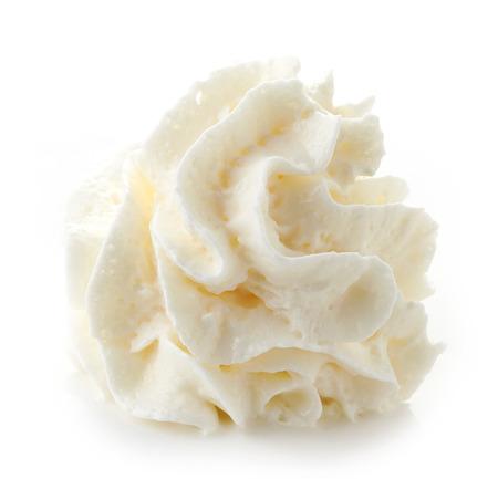 whipped cream isolated on white background