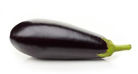 fresh raw eggplant isolated on white background
