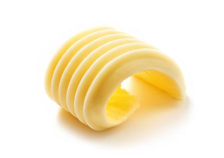 curl vaj elszigetelt fehér háttér Stock fotó
