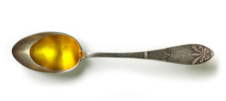 spoon of cooking oil isolated on white background, top view Reklamní fotografie - 57931846