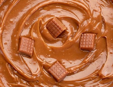 melting caramel and caramel candies