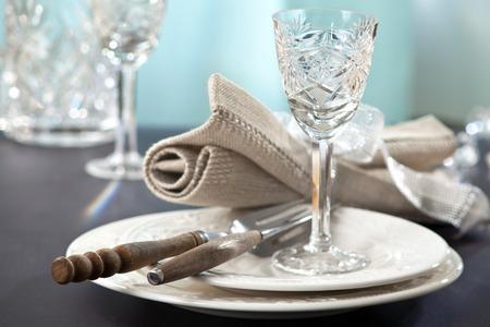 selective focus: elegant table setting, selective focus