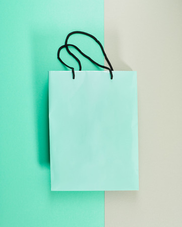 paper bag: paper shopping bag on colorful background