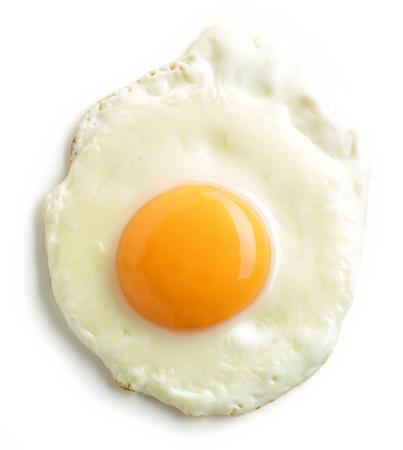 fried egg isolated on white background Archivio Fotografico