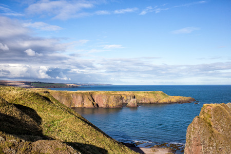 beautiful Scotland landscape with cloudy sky, Stonehaven