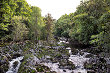 Rapid mountain river in Scotland Stock Photo
