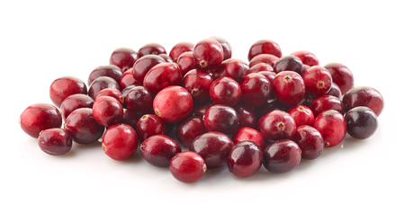 heap: heap of cranberries isolated on white background Stock Photo