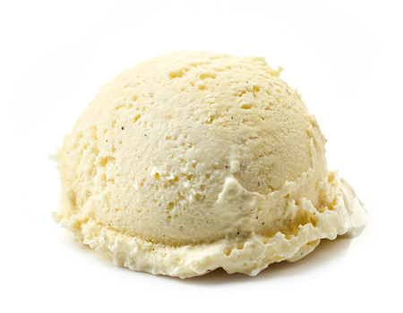 vanilla ice cream ball isolated on white background