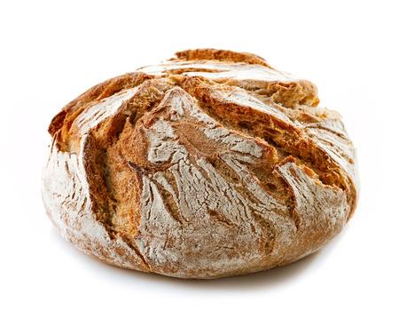 freshly baked bread isolated on white background Standard-Bild