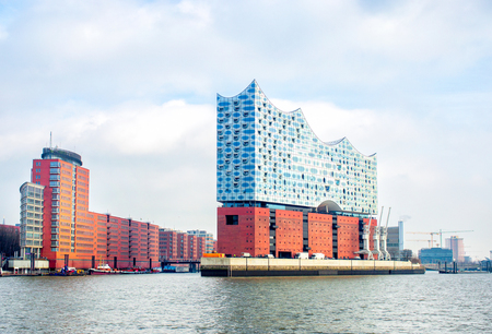 Hamburg, Germany - FEBRUARY16, 2017: Elbphilharmonie, a concert hall in the Hafen City quarter of Hamburg