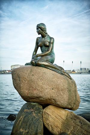 The famous Little Mermaid statue, Copenhagen, Denmark