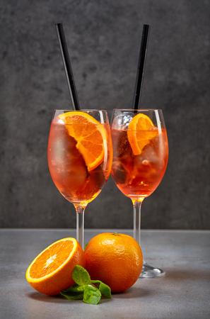 spritz: Classic Italian Aperol Spritz cocktail