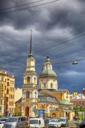Saint Petersburg, Russia - JUNE 23, 2017:  Church of the Holy and Righteous Simeon and Anna the Prophetess Editorial