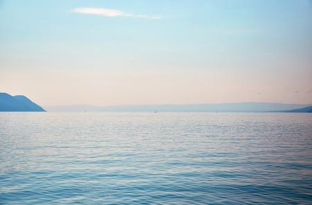 vevey: View of Alps and Geneva lake, Montreux, Switzerland Stock Photo