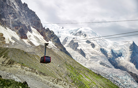 The Aiguille du Midi cable car, Chamonix, France