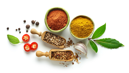 Various spices isolated on white background, top view Reklamní fotografie - 89285122