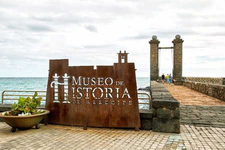 Arrecife, SPAIN - DECEMBER 1, 2017: Arrecife History Museum in Lanzarote Island, Spain is a history museum based in a castle on the waterfront of Arrecife, the capital of Lanzarote. Canary Islands