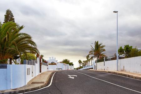 Street view of Puerto del Carmen, Lanzarote Island, Canaries, Spain