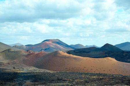 Volcano of Lanzarote Island, Canaries, Spain