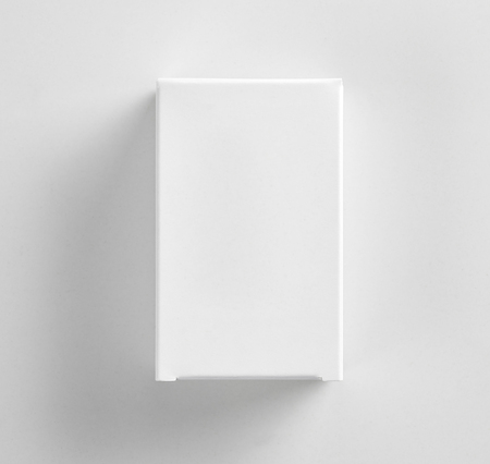 white paper package box, top view Stock Photo
