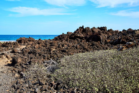 Landscape of Lanzarote Island, Canaries, Spain Banque d'images