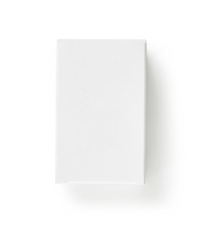 white paper package box isolated on white background, top view Stock Photo