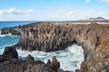 Los Hervideros, Beautiful landscape of Lanzarote Island, Canaries, Spain