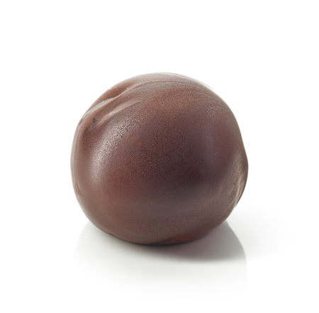 Chocolate truffle isolated on a white background