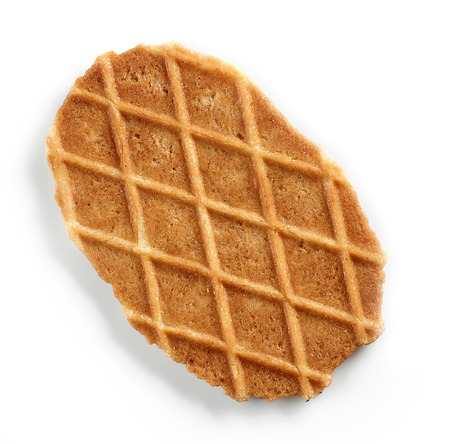 Freshly baked waffle isolated on white background