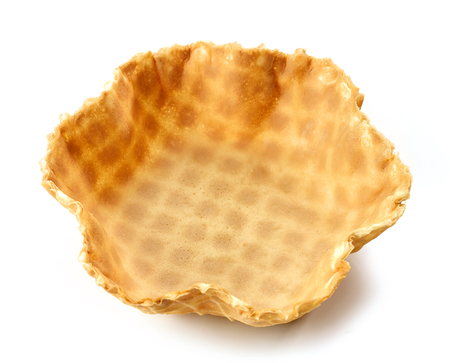 empty waffle basket isolated on white background Stock fotó