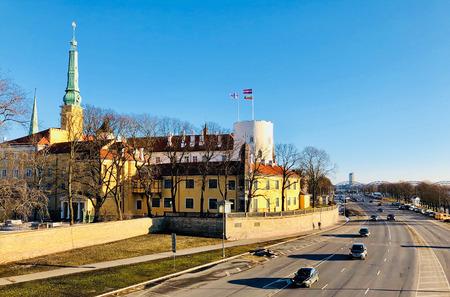Panoramic view of Riga city, Latvia