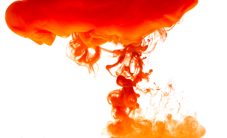 ink motion under water on white background Stock Photo