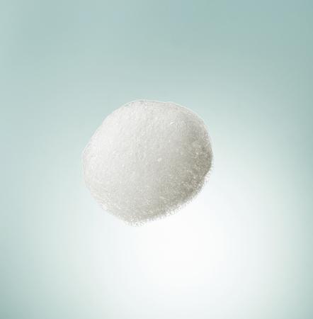 cosmetic foam macro, top view