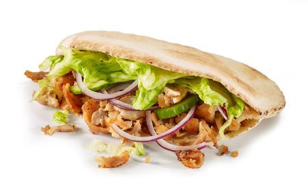 doner kebab isolated on white background Stock Photo
