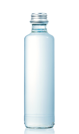 bottle of water isolated on white background 版權商用圖片