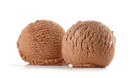 chocolate ice cream isolated on white background