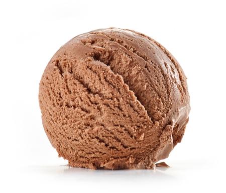 chocolate ice cream isolated on white background