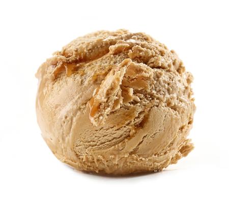 caramel ice cream isolated on white background Stock fotó