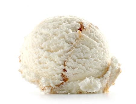 helado aislado sobre fondo blanco Foto de archivo