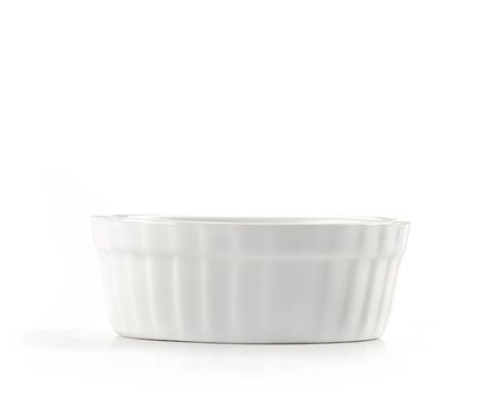 small empty bowl isolated on white background Reklamní fotografie