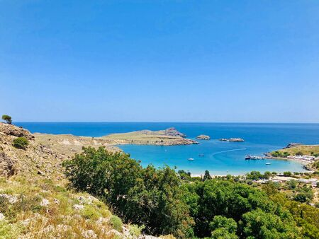 Beautiful landscape of Rhodes Island, Greece Reklamní fotografie